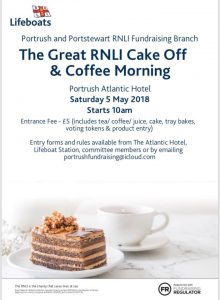 RNLI Cake off at Portrush Atlantic Hotel